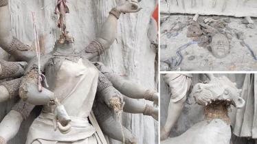কুষ্টিয়ায় পূজামণ্ডপে দুর্বৃত্তদের প্রতিমা ভাঙচুর